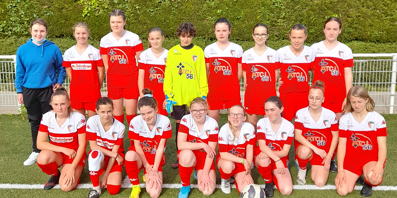 Catégorie U15, école de foot pôle jeune féminin Pluvigner
